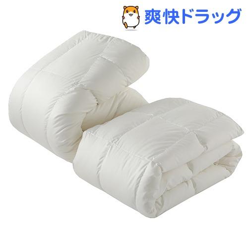 東京西川 デュエット羽毛布団 クイーン オールシーズン ホワイト KA38277072W(2枚組)【東京西川】