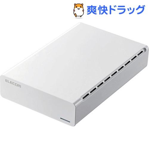 ホワイト USB3.0 ひかりTVモデル 4TB 外付け エレコム ELD-ERH040UWH(1個)【エレコム(ELECOM)】 ハードディスク