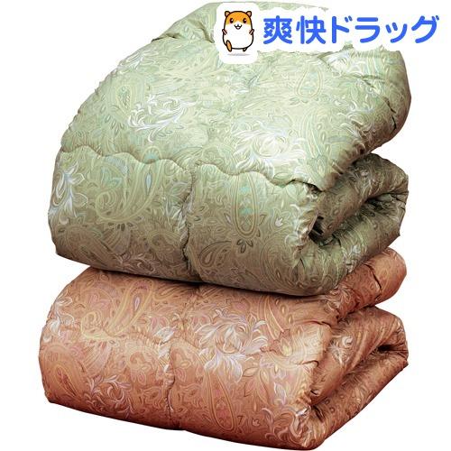 ウールキルト加工掛布団 ピンク ダブル(1枚)