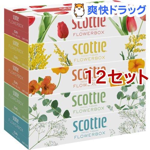 ティッシュ スコッティ SCOTTIE フラワーボックス お買い得品 5コ入 320枚 国内正規品 12セット 160組