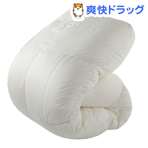 東京西川 羽毛布団 シングル カプセルドーム形状 ホワイト KA08208073W(1枚入)【東京西川】