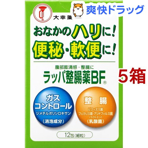 期間限定特別価格 大幸薬品 ラッパ整腸薬 BF 宅配便送料無料 5箱セット 12包入