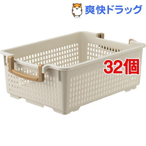フリーバスケット M アイボリー(32個セット)