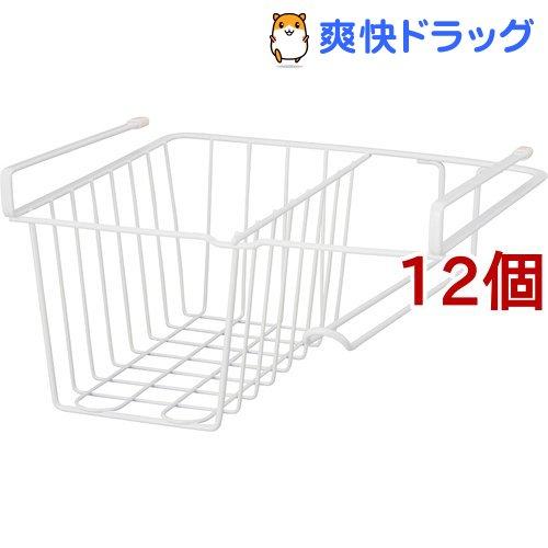 ファビエ ペーパーホルダー付 ハンキングバスケット ホワイト(12個セット)【ファビエ】