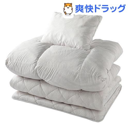 東京西川 布団セット 3点 シングル グレー KF08000001GR(1セット)【東京西川】