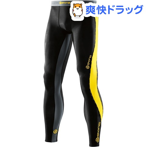 スキンズ DNAMIC メンズ ロングタイツ ブラック*シトロン XS DK9905001(1枚入)【スキンズ(SKINS)】