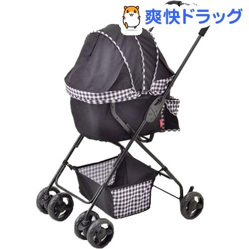 わんわんカートライトαブラックチェック(1台)【わんわんカート】