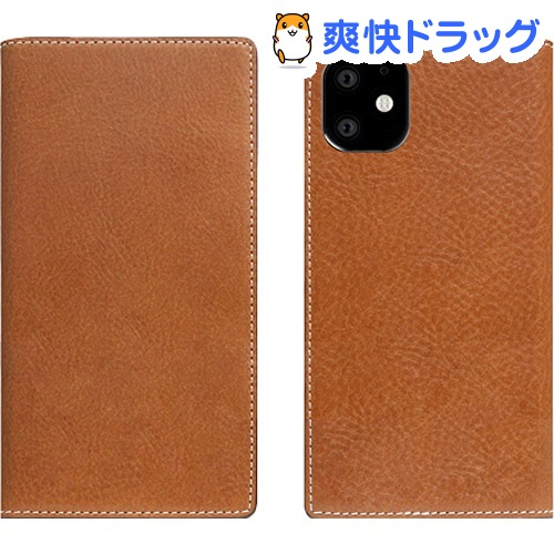 SLG Design iPhone 11 Tamponata Leather case タン SD17899i61R(1個)【SLG Design(エスエルジーデザイン)】