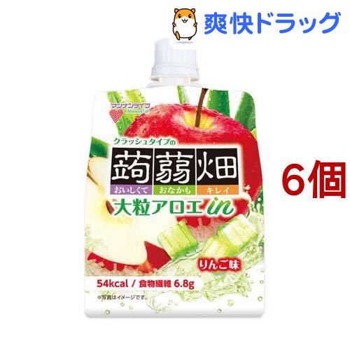 蒟蒻畑 大粒アロエinクラッシュタイプの蒟蒻畑 春の新作続々 りんご味 6個セット 美品 150g