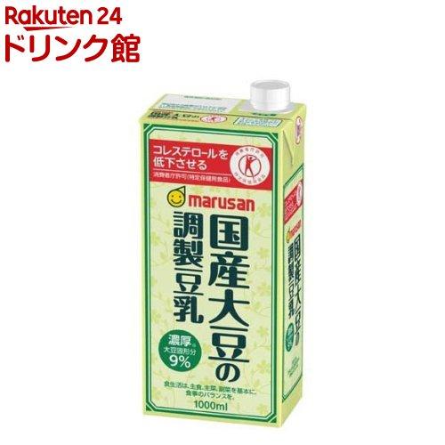 新色追加 マルサン 国産大豆の調製豆乳 6本入 1L 返品不可