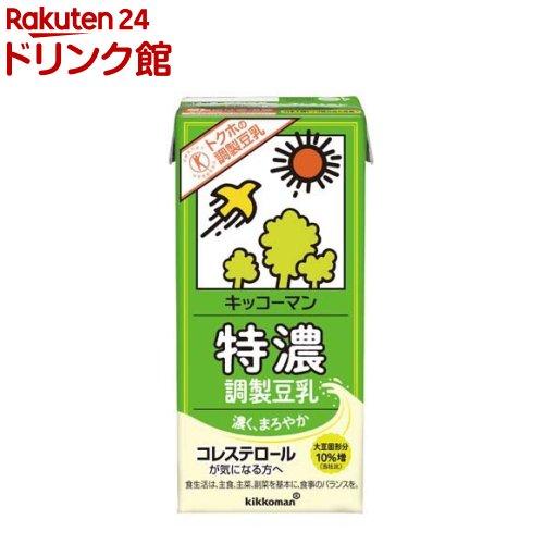 宅配便送料無料 キッコーマン 特濃調製豆乳 無料サンプルOK 1L 6本入