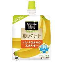 コカ・コーラ ミニッツメイドゼリー 朝バナナ 180gパウチ *96個(4ケース)