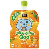 コカ・コーラ ミニッツメイド ぷるんぷるんQoo(クー) みかん味125gパウチ *120個(4ケース)
