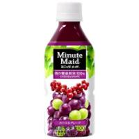 ミニッツメイド 朝の健康果実カシスグレープ 350mlペットボトル *48個(2ケース)