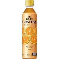 紅茶花伝 クラフティー 贅沢しぼりオレンジティー 410mlペットボトル *48個(2ケース)