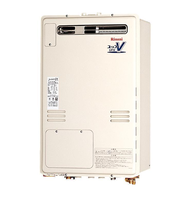 リンナイ温水暖房付ふろ給湯器RUFH-V1613SAW2-6(B) 2温度 床暖房3系統 ヘッダー内蔵