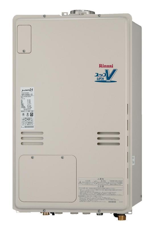 リンナイ温水暖房付ふろ給湯器RUFH-V2403AU2-1(B) 2温度 床暖房6系統 ヘッダー外付 PS上方排気型