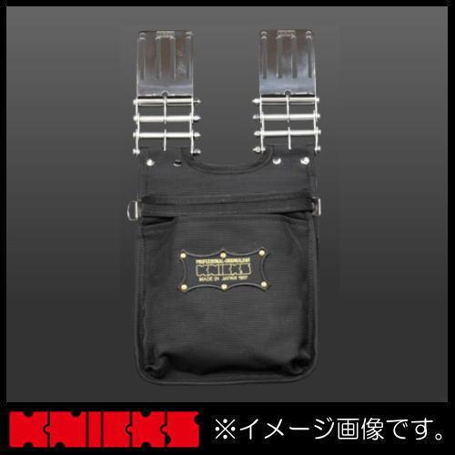 ニックス バリスティックナイロン生地2段腰袋(刺繍ワッペン/黒・金) KBA-201BG KNICKS KBA201BG