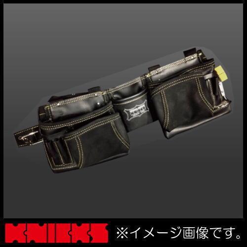 ニックス 最高級2x2ポケットレザーツールバッグ釘袋(ベルト一体型) KCA-9506B KNICKS KCA9506B