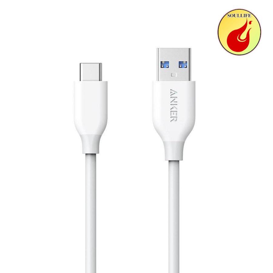 Anker USB Type C,高速データ転送,丈夫,耐久性,互換性 Anker USB Type C ケーブル PowerLine USB-C  USB-A 3.0 ケーブル USB-C機器対応 テレワーク リモート 在宅勤務 0.9m ホワイト