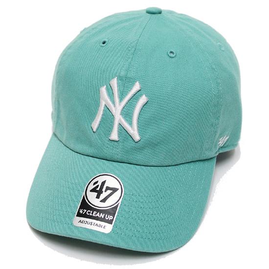 11 000円以上で送料無料 '47 高級な フォーティーセブン キャップ 帽子 本店 メンズ レディース 男女兼用 ユニセックス YANKEES ストラップバック あす楽対応 CAP ヤンキース UP ターコイズブルー 正規取扱 CLEAN
