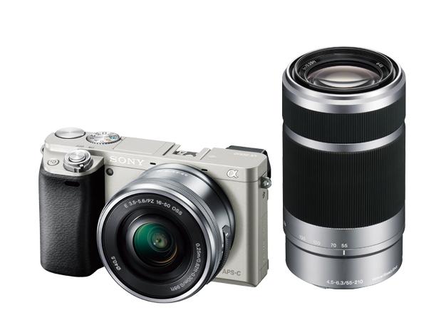 デジタル一眼カメラ α6000 ダブルズームレンズキットILCE-6000Y ホワイト