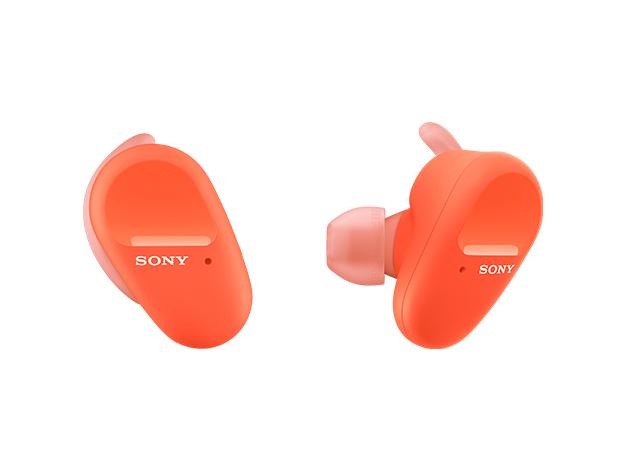 【在庫あります 即納可能】ワイヤレスノイズキャンセリングステレオヘッドセットWF-SP800N オレンジ
