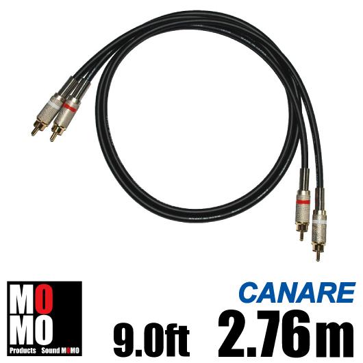 ■カナレ【 CANARE L4E6S 】(黒)RCA オーディオケーブル 9.0ft (2.76m)【赤白ペア】