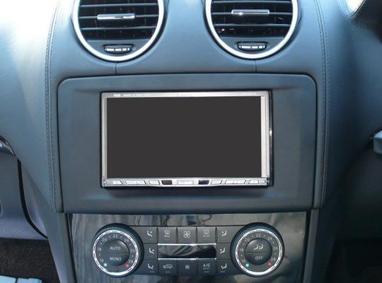 【送料無料】MB164A2D09A pb(ピービー)メルセデス・ベンツ Mercedes-Benz GLクラス/Mクラス用2DINキット 純正HDDナビ付車用