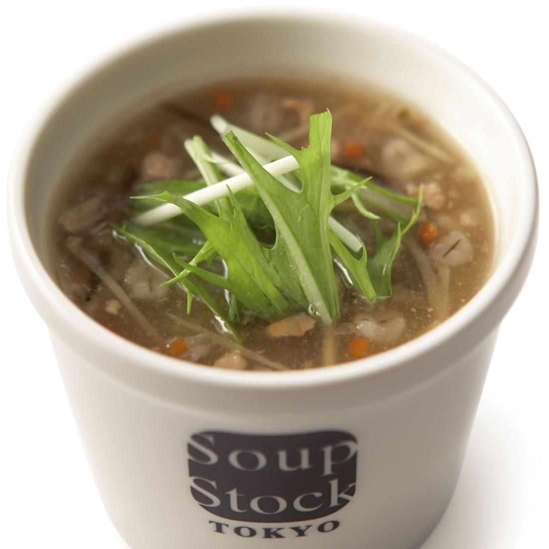 生姜入り7種の野菜の和風スープ