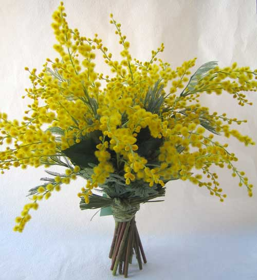 Artificial flower soup rakuten global market mimosa color colorful bouquet stand mightylinksfo