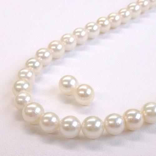 アコヤ真珠2点セット 6.0-6.5mm 【金属アレルギー対策可能】