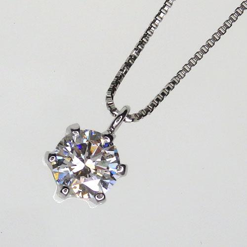 Pt900 一粒ダイヤモンドネックレス[SI-2クラス] 0.4ctup