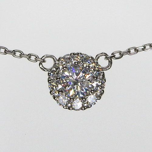 Pt900 ダイヤモンドネックレス 0.16ct