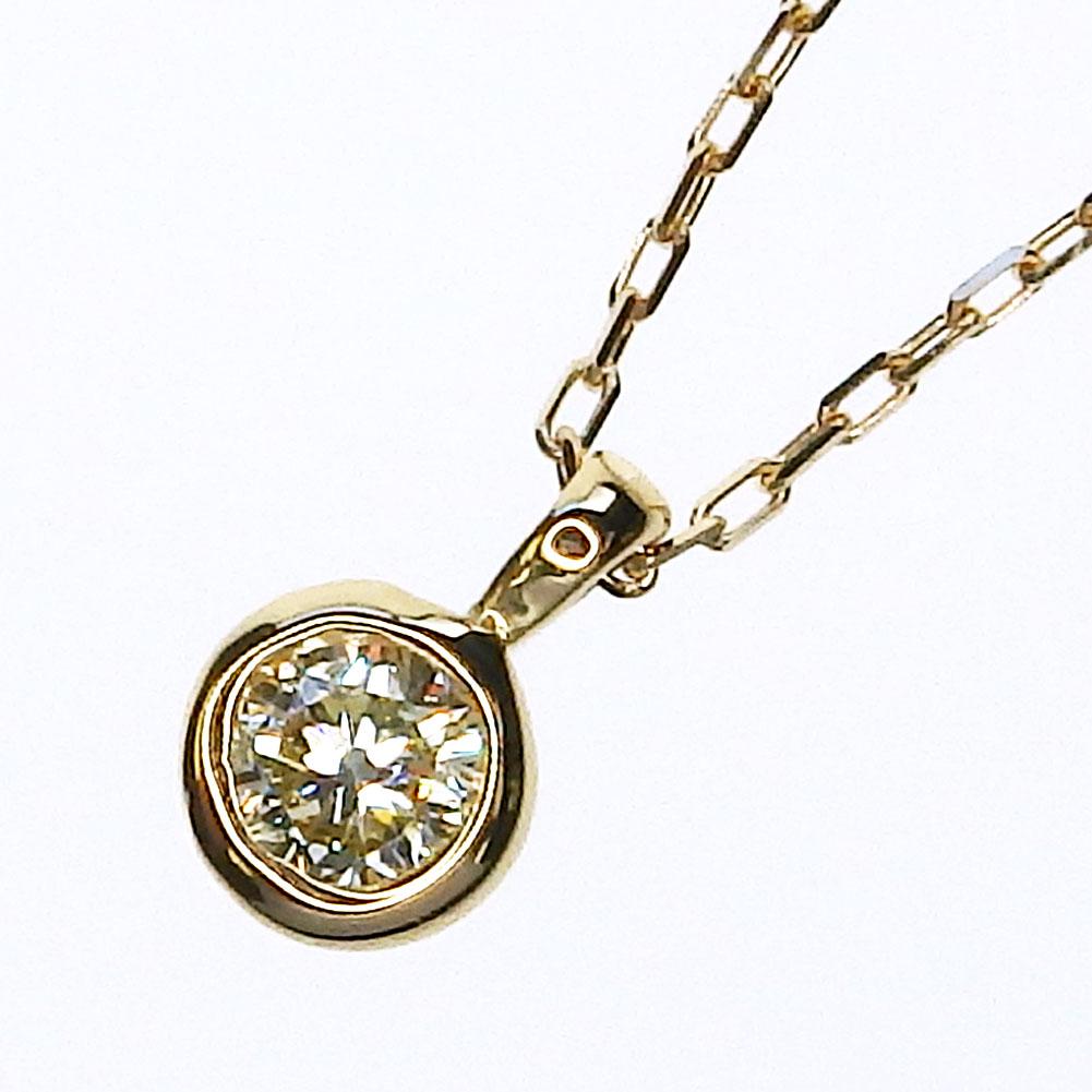 K18 一粒ダイヤモンドネックレス 0.07ct