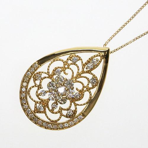 K18 ダイヤモンドネックレス 0.50ct
