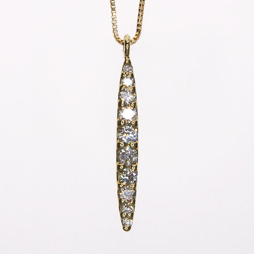 K18 ダイヤモンドネックレス 0.20ct