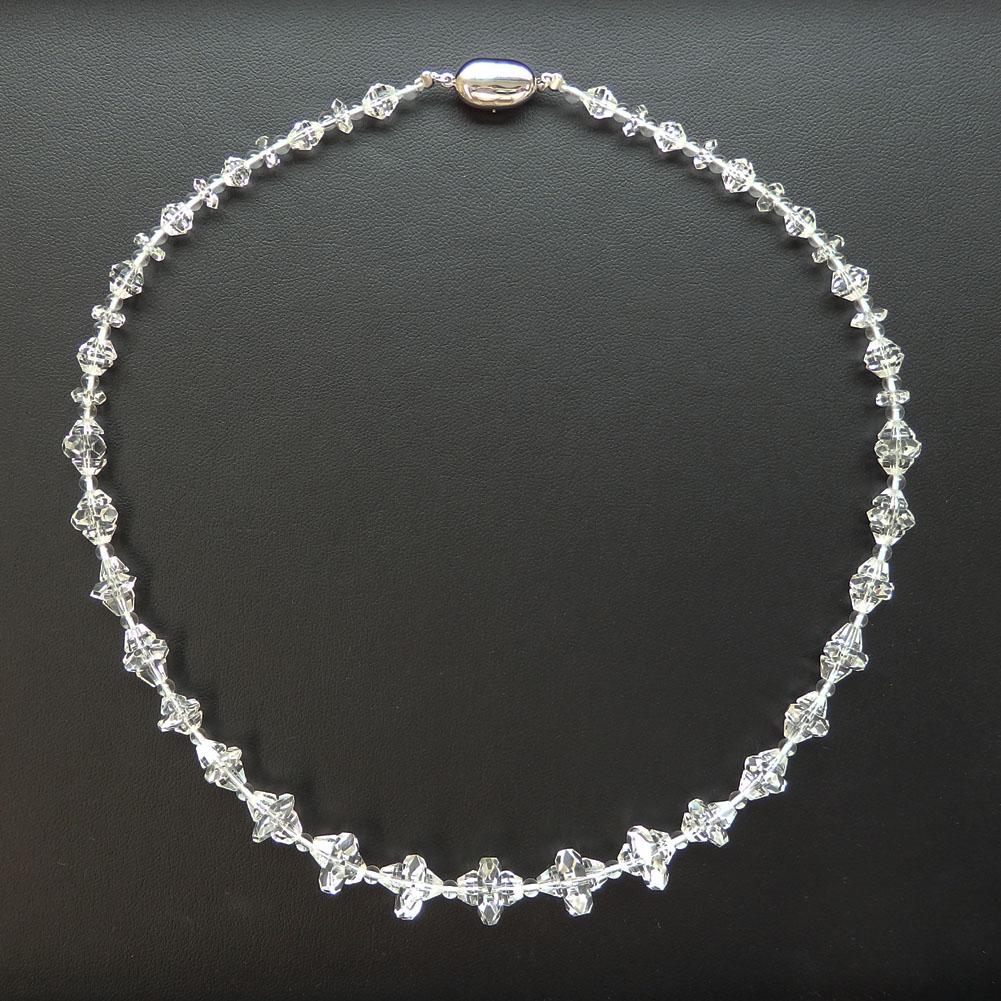 【1点物】SV 水晶ネックレス 46cm