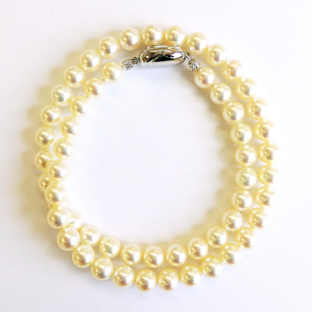 トップクオリティクラス 花珠真珠ネックレス 7-7.5mm 【金属アレルギー対策可能】