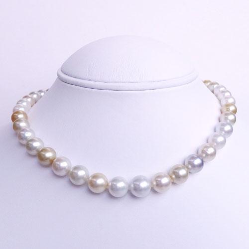 南洋真珠(白蝶真珠)ネックレス マルチカラー 【金属アレルギー対策可能】