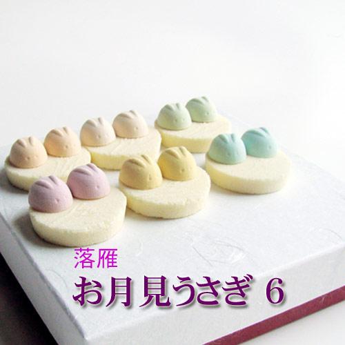 干菓子 お月見うさぎ 紙箱入【和菓子】【落雁】【和三盆】【贈り物】WAGASHI
