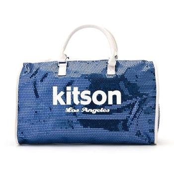 KITSONカバンがこの値段 ギフト KITSON 正規品新品 キットソン KHB0258ボストンバッグ 旅行にも使えるキラキラが可愛いボストンバッグ あす楽 正規品 KHB0258 レディース 旅行カバン キラキラ ボストンバッグ スパンコール Blue×White ☆新作入荷☆新品