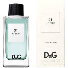 DGブランド初のフレグランスアンソロジー 大人な香りがワンランク上のあなたを演出 男性用と女性用はもちろん 共用 安い 激安 プチプラ 高品質 ユニセックス の商品も揃えております 正規品 DOLCE GABBANA 21 Le Fou EDT 至上 ガッバーナ フー ル Homme 100ml オードトワレスプレー ドルチェ DG 香水 フレグランス Pour UNISEX