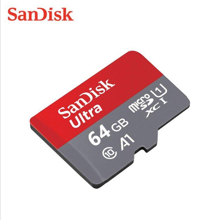 MicroSDカー64gb 高速 読込速度 98MB 未使用 秒 A1 最安値 microSDカード 64GB アプリ最適化 好評 SDカード変換アダプター付き SanDisk UHS-1 送料無料 A1対応 超高速 海外向けパッケージ 100MB