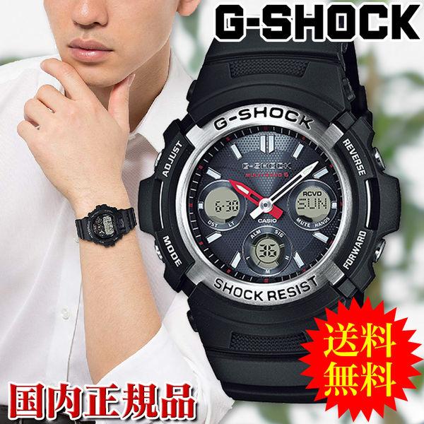在庫処分(国内正規品) カシオ CASIO 腕時計 G-SHOCK ジーショック タフソーラー 電波時計 MULTIBAND 6 AWG-M100-1AJF メンズ