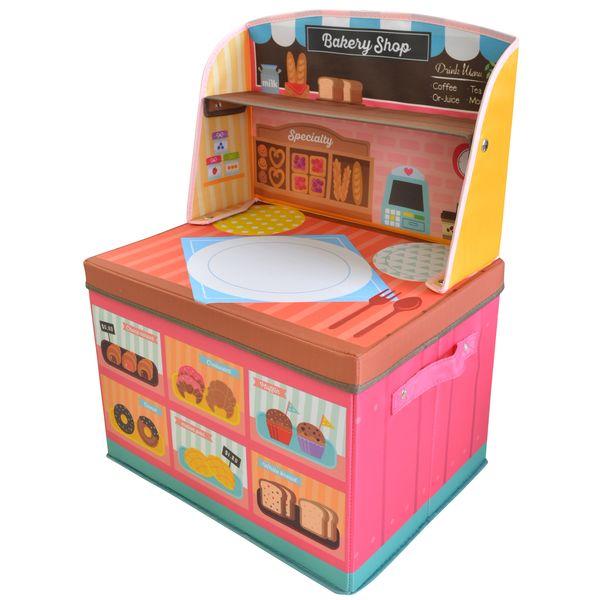 ままごと 収納 ボックス (ベーカリーショップ)男の子向き 子供部屋 収納 おままごと お片付け【在庫あり】