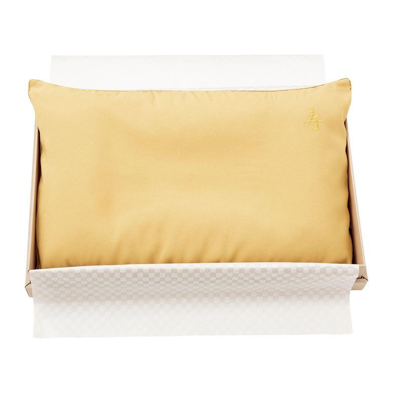 お買得 家具 インテリア 美品 寝具 まくら 出荷までお時間をいただく場合がございます EH88102036 お祝い枕 ゴールド ピローケース付き
