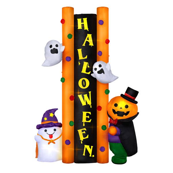 ハロウィン 店舗装飾 ディスプレイ エアディスプレイサインボードハロウィント 高さ240cm