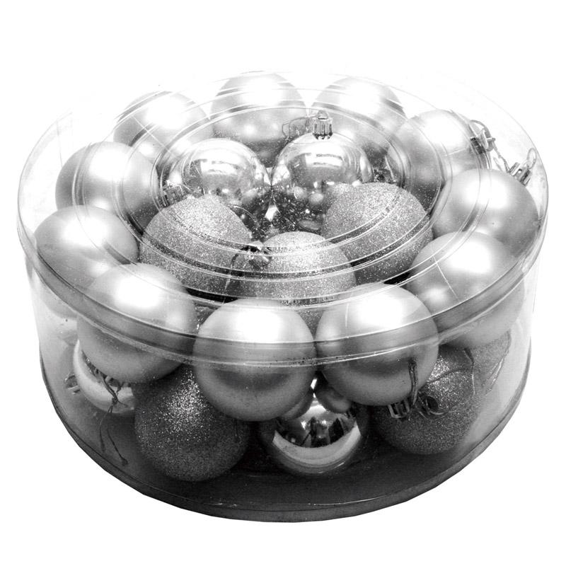冬 クリスマス 贈り物 店舗装飾 飾り 飾りつけ 装飾 デコレーション 造花 シルバー パーティー オーナメントメタリックボール60mm32個入 予約販売品 ディスプレイ イベント フェイク