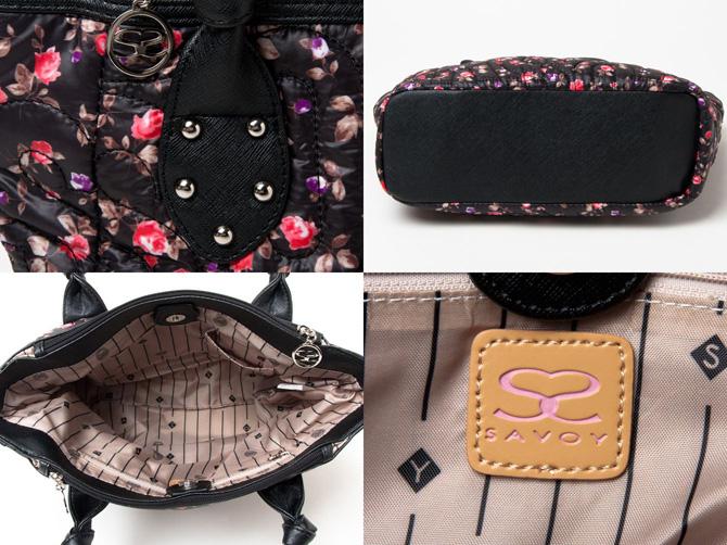 萨博伊包(萨博伊大手提包)黑色小花花纹大手提包包不可